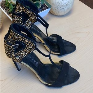 Steve Madden black and gold size 6.5